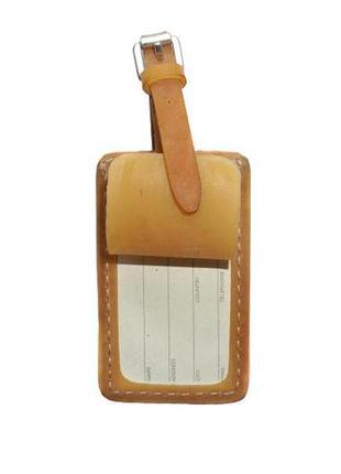 Кожаный бейдж-браслет cos