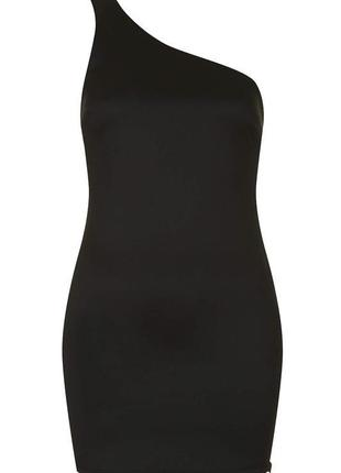 Маленькое черное платье на одно плечо/сукня/плаття
