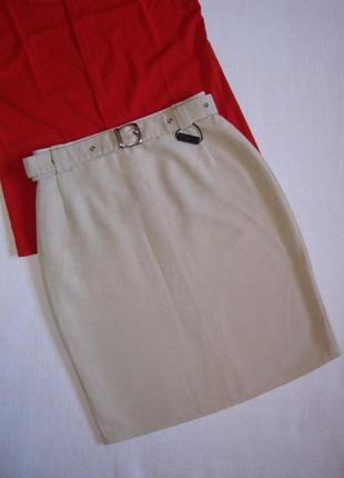 Новая бежевая юбка-карандаш до колена