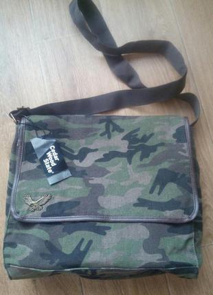 Новая котоновая  мужская сумка от sedarwood state