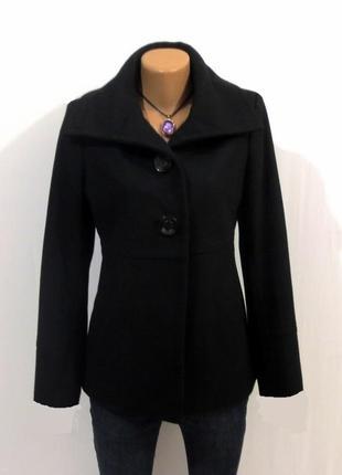 Роскошное шерстяное полупальто от zero идеально для базового гардероба размер: 46-м