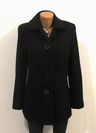 Шерстяное роскошное пальто от yessica стройнит размер: 50-l, xl