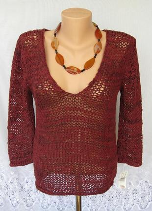 Новый ажурный свитер next хлопок полиэстер l 48-50 а145n