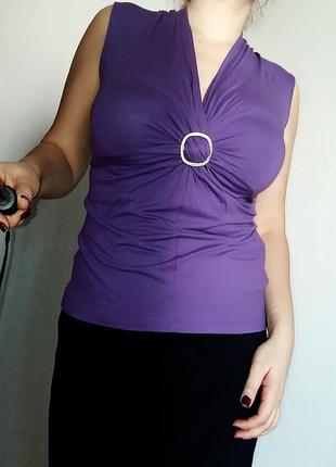 Фиолетовая майка olsen из вискозы 48-50 размер orsay