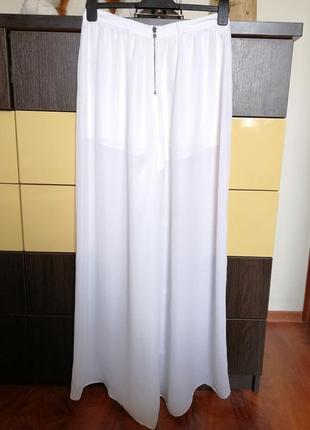 Шикарные брюки-юбка. сша. шёлк и полиэстер. 44-46р