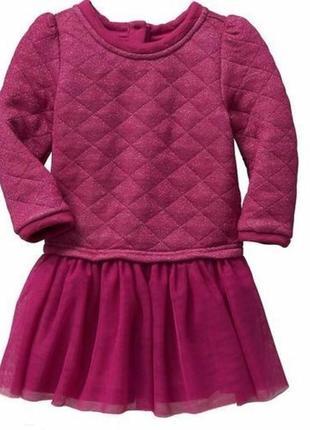 Платье свитшот gap юбочка tutu для  малышки 12-18