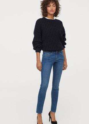 Оригинальные джинсы-super skinny low от бренда h&m разм. w27l34