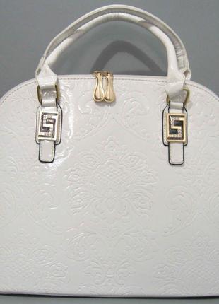 Женская лаковая сумка с тиснением 8335 2 цвета