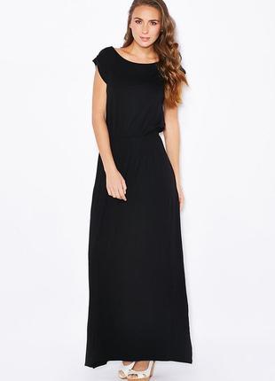 Длинное черное платье макси
