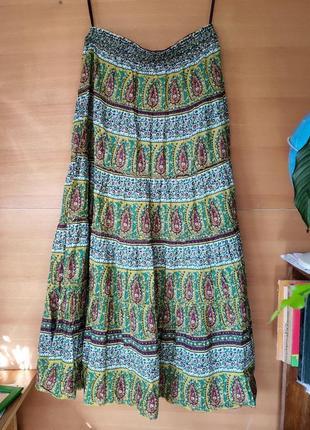 Летняя юбка с поясом резинкой amisu