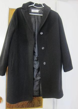 Шерстяне демисезоне пальто-кокон