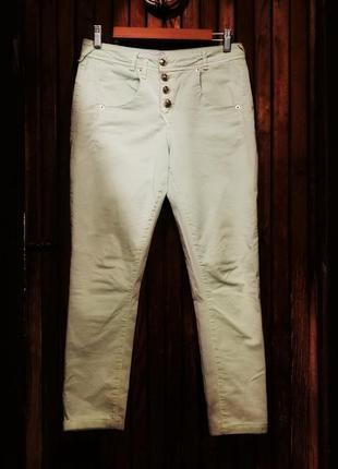 Мятные джинсы скинни