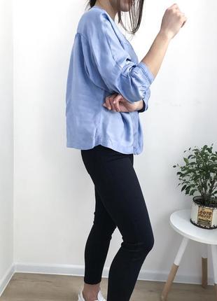 Атласна рубашка mango, блуза літня нова