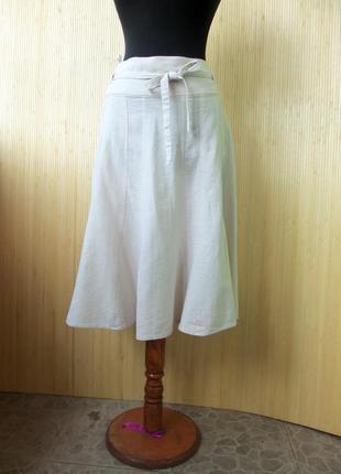 Летняя юбка колокол с поясом new look