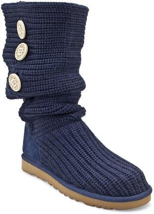 Стильные ugg australia s/n 5819 сапоги вязанные р.39 оригинал угги ботинки уги угг