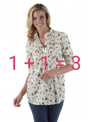 Рубашка из хлопка в цветочный принт