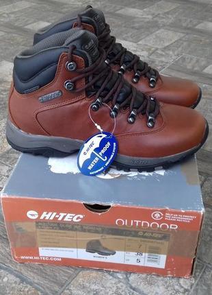 Hi-tec кожаные ботинки  женские  37,5 - 38 р.