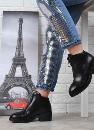 Ботинки женские кожаные на каблуке vicont украина женские ботильоны весна-осень