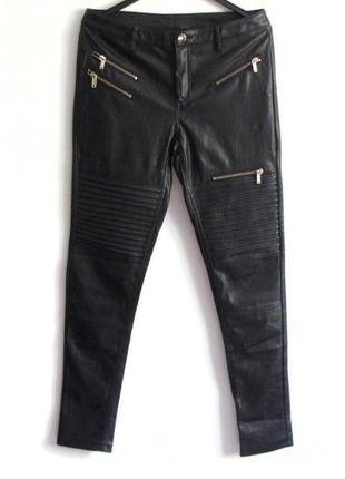 Класні м'ягкі брюки з якісного шкірзамінника,штани під шкіру,екошкіра штани,шкіряні штани