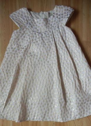 Фирменное нарядное платье next малышке 1.5-2 года