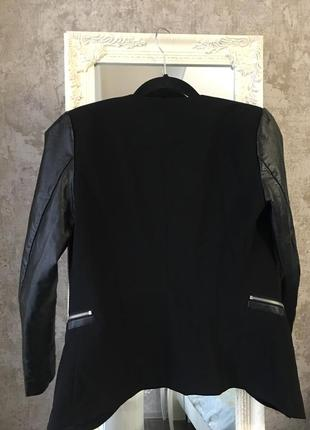 Пиджак с кожзамом4 фото
