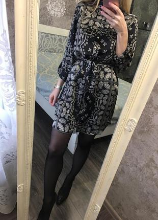 Платье-рубашка в орнамент