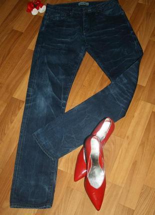 Дизайнерские джинсы acne с фирменными разводами, оригинал, размер s-m