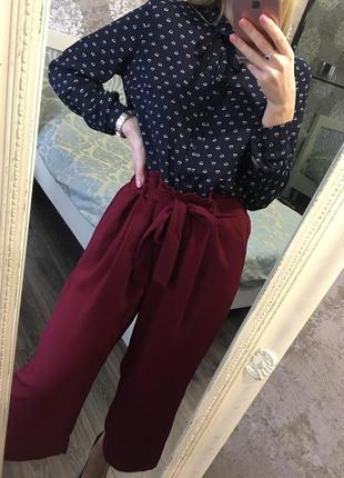 Широкие  брюки на завязке