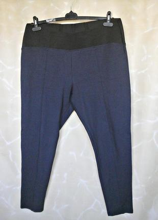 Трикотажные брюки, леггинсы с широким поясом-резинкой 52-54 размера