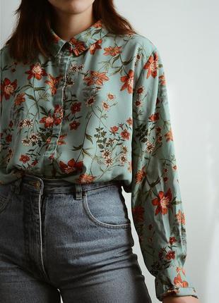 Шикарная блуза в цветы от primark 💘