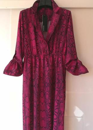 Платье змеиный принт италия2 фото