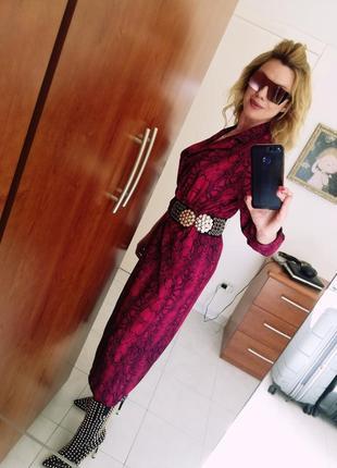 Платье змеиный принт италия3 фото