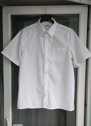 "Шведка ""m&s"" non-iron р.164 подростку 13-14л, белая рубашка, можно близнецам"
