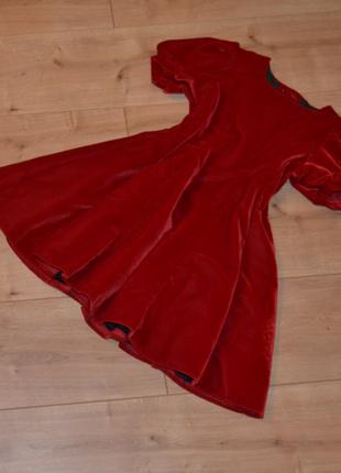 Бархатное платье next 116/122 cм
