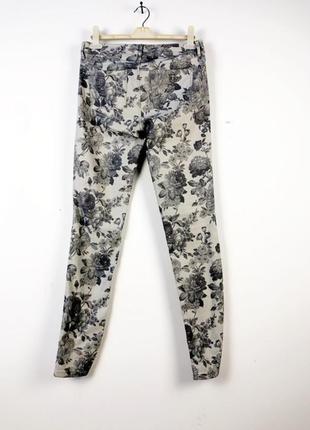 Серые джинсы с цветочным рисунком esprit