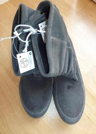 Замшевые стильные полусапожки, ботинки от esmara, германия. 39