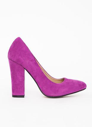 Яркие туфли с острым носом цвета фуксии на толстом устойчивом каблуке missguided