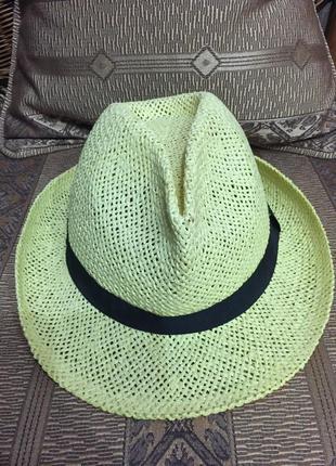 Летняя плетёная шляпа от gloria jeans