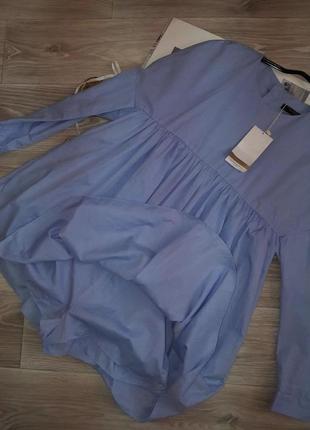 Zara комбинезон- рубашка- платье р с сток