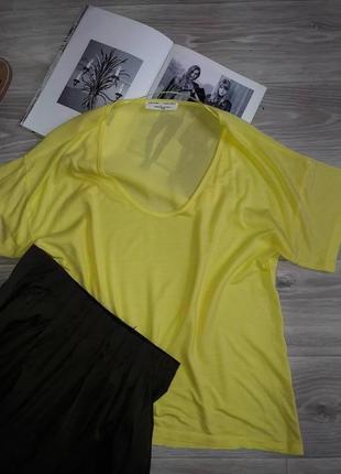 Zara классная футболка. спинка сетка-лен. р s сток