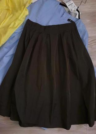 Zara трендовая юбка колокол р м . сток