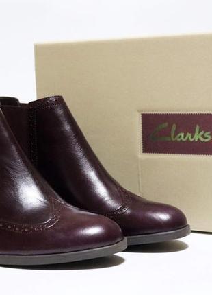 Clarks женские ботинки челси, оригинал натуральная кожа