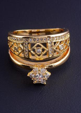 Кольцо 'xuping' фианит (позолота 18к) 0688450