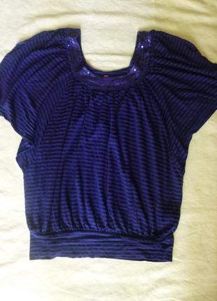 Известный дизайнер jasper conran  свободная футболка блуза паетки