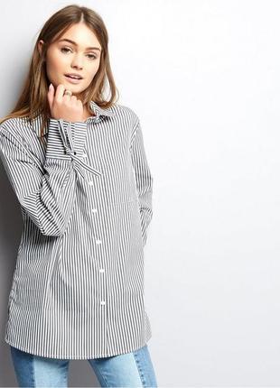 Рубашка в полоску с бантиками на рукавах3 фото
