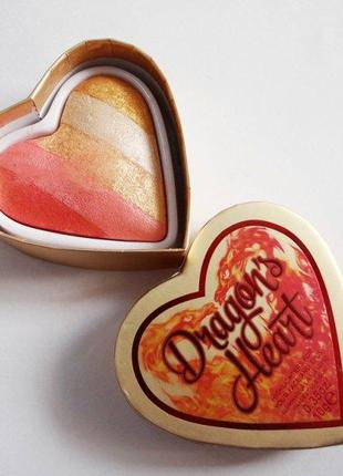 Хайлайтер, румяна, тени makeup revolution i heart makeup dragon's heart highlighter