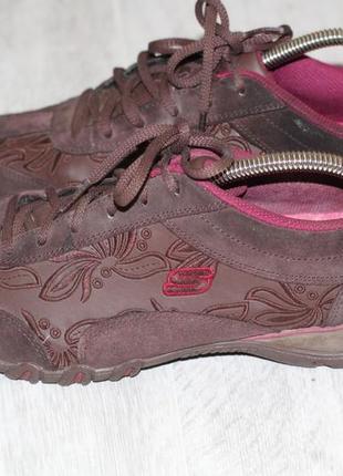 Кожаные кроссовки skechers  41-42 на широкую стопу