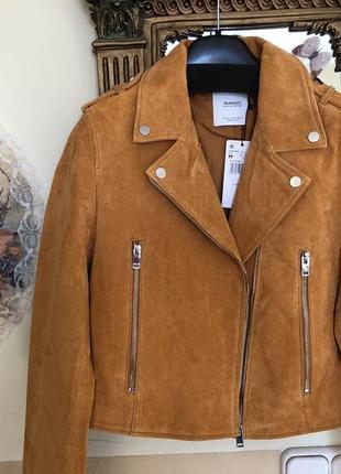 Кожаная куртка mango оригинал