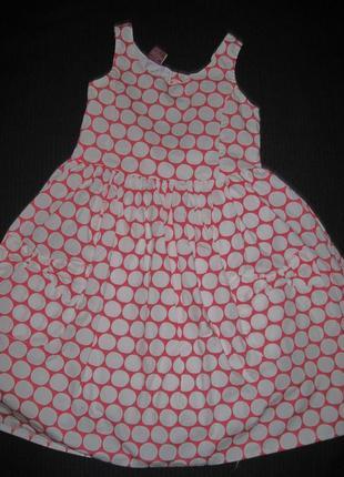Платье в горох emma runton 5-6л