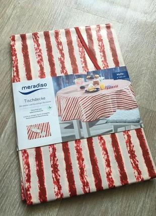 Скатерть круглая american stripes meradiso 160 см.